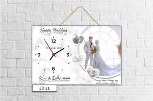 Harga jam dinding custom kado wedding ultah wisuda anniversary   | HARGALOKA.COM
