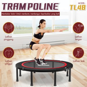 Harga trampoline dewasa model tl 48 122cm dapat dilipat alat olahraga | HARGALOKA.COM