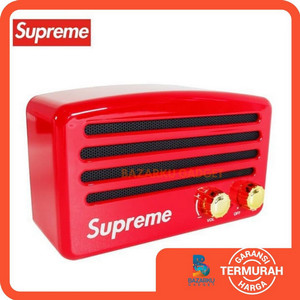Harga speaker bluetooth supreme vintage red wireless | HARGALOKA.COM