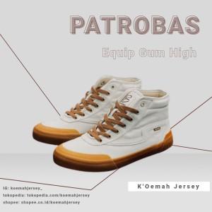 Harga sepatu sneakers pria dan wanita patrobas equip white gum high     HARGALOKA.COM