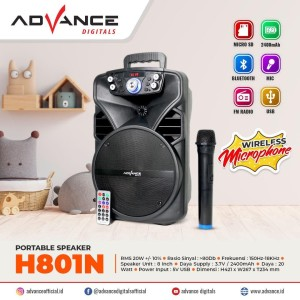 Harga speaker bluetooth mp3 advance h801n v | HARGALOKA.COM