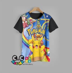 Harga kaos anak pikachu baju anak pokemon v6   1 2 | HARGALOKA.COM