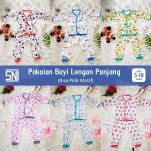 Harga baju bayi motif lucu premium setelan lengan panjang sni   random   HARGALOKA.COM