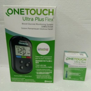 Harga one touch plus flex alat test gula darah strip 50 | HARGALOKA.COM