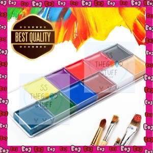 Harga face and body painting set 12 colors cat minyak face and body | HARGALOKA.COM