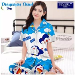 Harga baju tidur piyama pajamas cp doraemon awan | HARGALOKA.COM