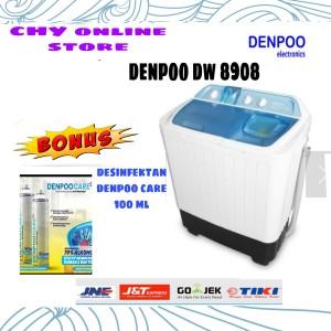 Harga mesin cuci 2 tab 8 kg denpoo dw 8908 tekhnologi 3 air   HARGALOKA.COM