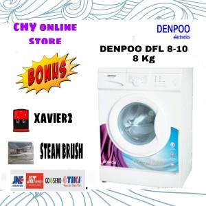 Harga denpoo mesin cuci frond looding dfl810 8kg   HARGALOKA.COM