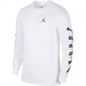 Harga kaos baju lengan panjang air jordan 23 pria wanita white and black   putih | HARGALOKA.COM