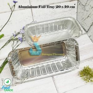 Harga premium aluminium foil tray 20 x 10 cm   wadah alumunium kue | HARGALOKA.COM