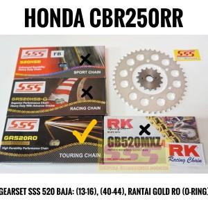 Harga girset gearset gir set sss honda cbr250rr baja rantai gold ro   HARGALOKA.COM
