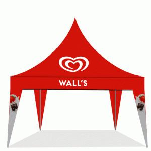 Harga tenda kerucut bahan pvc 500gsm ragam ukuran sudah termasuk branding   | HARGALOKA.COM