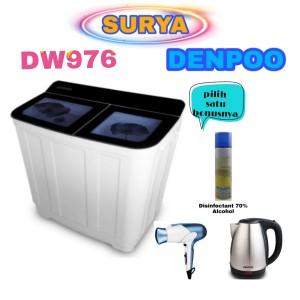 Harga mesin cuci denpoo 2 tabung dw976 8 | HARGALOKA.COM