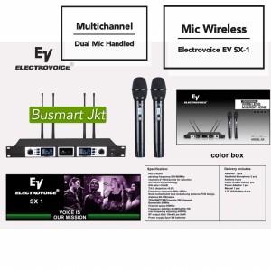 Harga mic wireless electrovoice ev sx 1 ev sx1 original 2 mic handled | HARGALOKA.COM
