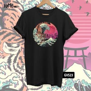 Harga kaos rad tiger wave tomoinc geek vol 6 t shirt dtg big size   | HARGALOKA.COM
