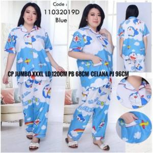 Harga baju tidur piyama pajamas cp doraemon awan jumbo katun fit to | HARGALOKA.COM