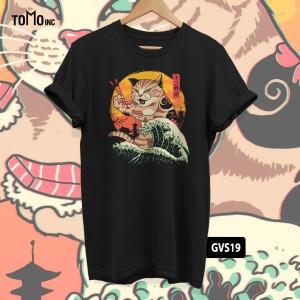 Harga kaos neko sushi wave tomoinc geek vol 6 t shirt dtg big size   | HARGALOKA.COM
