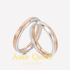 Harga cincin nikah tunangan couple platinum amp emas kadar 75 pria amp wanita | HARGALOKA.COM