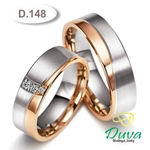 Harga cincin kawin nikah couple emas putih 50 dan palladium 15 d | HARGALOKA.COM