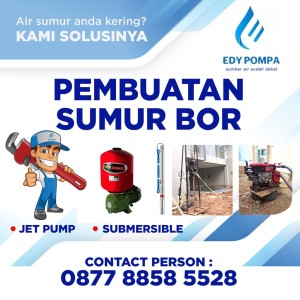 Harga jasa sumur bor kota bekasi pengeboran air pompa jet pump | HARGALOKA.COM