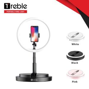 Harga treble portable tripod selfie ring light led phone holder   trl01   merah   HARGALOKA.COM