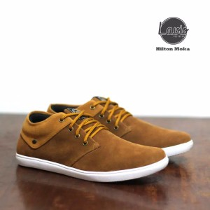 Harga sepatu sneakers pria lavio hilton sepatu casual   mocca   HARGALOKA.COM