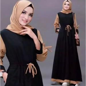Harga gamis renata dress moscrepe sleting | HARGALOKA.COM