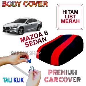 Harga sarung mobil mazda 6 sedan list merah body cover penutup sedan | HARGALOKA.COM