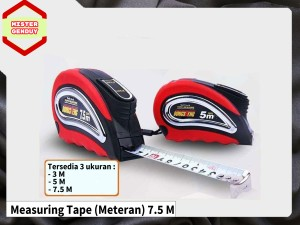 Harga measuring tape meteran 7 5m 7 5 m 7 5m bangunan self locking | HARGALOKA.COM