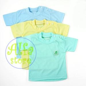 Harga 3 pcs kaos oblong bayi newborn merk tirex     HARGALOKA.COM