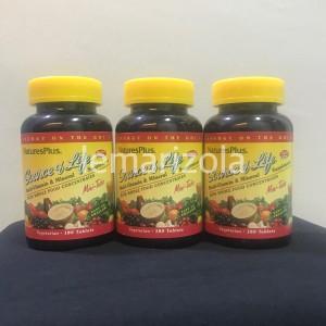 Harga mulitvitamin   natures plus source of life mini tabs isi 180 | HARGALOKA.COM
