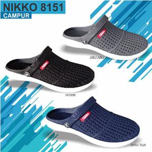 Harga sepatu sandal pria murah nikko 8151 38 42 sepatu slip on karet   | HARGALOKA.COM