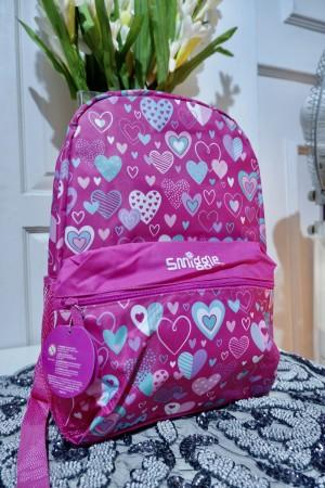 Harga tas anak smiggle pink love import | HARGALOKA.COM