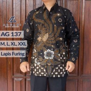 Harga kemeja batik pria lapis furing ag 137     HARGALOKA.COM