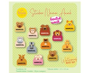 Harga sticker label nama anak bentuk lucu animal   HARGALOKA.COM