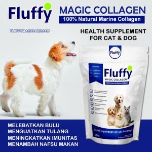 Harga suplemen penambah nafsu makan anjing fluffy kolagen protein vitamin | HARGALOKA.COM