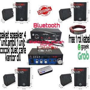 Harga paket speaker cafe kantor speaker crimson 4 titik ampli kabel 1 | HARGALOKA.COM