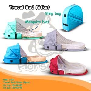 Harga promo hmc1001 travel bed kitkat tempat tidur bayi kelambu lipat kasur     HARGALOKA.COM
