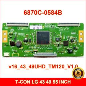 Harga t con lg 6870c 0584b   tcon tv 43 49 55 inch   v16 43 49uhd tm120 v1 0   43 | HARGALOKA.COM