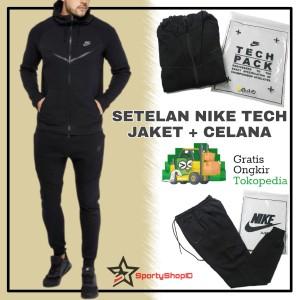 Harga setelan celana jaket training olahraga pria running jogging lari nike     HARGALOKA.COM