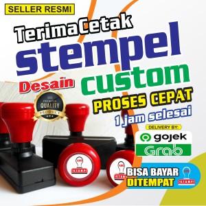 Harga stempel otomatis 1warna stempel flash custom   kecil | HARGALOKA.COM