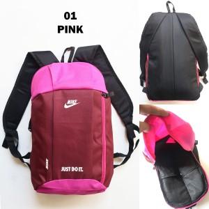 Harga tas ransel pria wanita nike 01 pink backpack gowes sepeda gym | HARGALOKA.COM