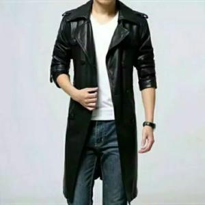 Harga jaket pria model jubah panjang   hitam | HARGALOKA.COM