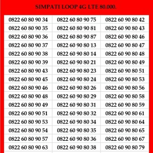 Harga nomor cantik simpati loop telkomsel 4g kartu perdana puluh murah | HARGALOKA.COM