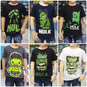Harga kaos baju anak superhero hulk kualitas premium cotton   s 1 2 tahun sesuai | HARGALOKA.COM