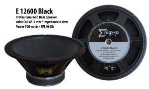 Harga enigma   e 12600 black   speaker component 12 | HARGALOKA.COM