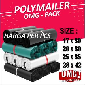 Harga plastik polymailer premium tebal kantong amplop packing online shop   black 17 x | HARGALOKA.COM