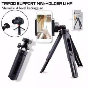 Harga tripod support mini hd 30 selfie stick kamera standing holder | HARGALOKA.COM
