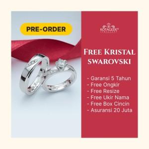 Harga cincin nikah couple custom tunangan kawin palladium paladium ukir | HARGALOKA.COM