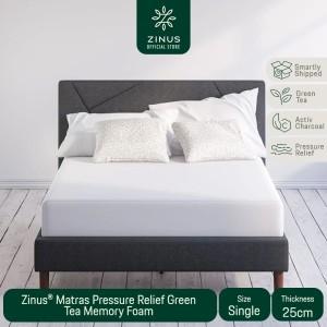 Harga zinus kasur 25cm green tea memory foam   ukuran | HARGALOKA.COM